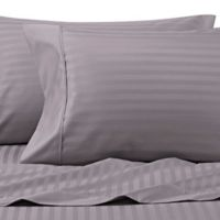 Wamsutta® 625-Thread Count PimaCott® Stripe King Pillowcases in Charcoal (Set of 2)