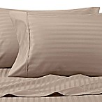 Wamsutta® 625-Thread Count PimaCott® Stripe Queen Sheet Set in Taupe