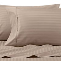 Wamsutta® 625-Thread Count PimaCott® Stripe King Pillowcases in Taupe (Set of 2)