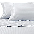 Wamsutta® 625-Thread Count PimaCott® Stripe Queen Sheet Set in Light Blue