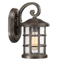 Quoizel Crusade Small Wall Lantern in Brown