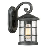 Quoizel Crusade Small Wall Lantern in Black