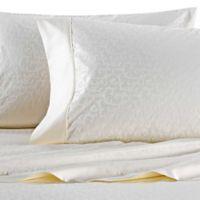 Wamsutta 625 Thread Count Pimacott Scroll Queen Sheet Set In Ivory