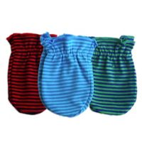 Sozo® Boys' 3-Pack Striped Scratch Free Mittens