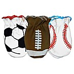 Sozo® Boys 3-Pack Sports Theme Scratch Free Mittens