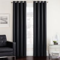 Twilight 95-Inch Room Darkening Grommet Top Window Curtain Panel in Black