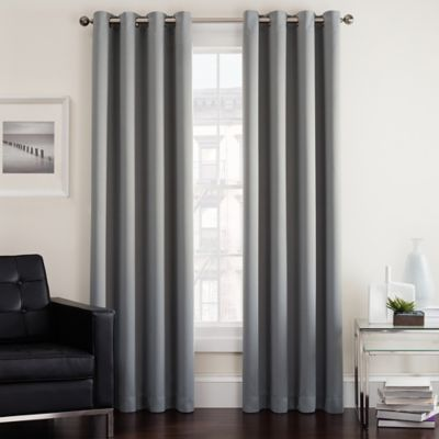 Twilight 63 Inch Room Darkening Grommet Top Window Curtain Panel in Grey. Buy 63  Curtain Panels from Bed Bath   Beyond