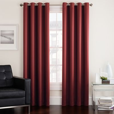 Twilight 54 Inch Room Darkening Grommet Top Window Curtain Panel In Spice