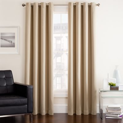 Twilight 95 Inch Room Darkening Grommet Top Window Curtain Panel In Ivory