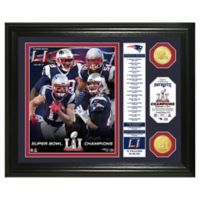 NFL New England Patriots Super Bowl LI Champion Banner Bronze Coin Photo Mint