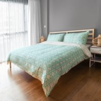 Geo Prep Tile Twin Duvet Cover in Blue