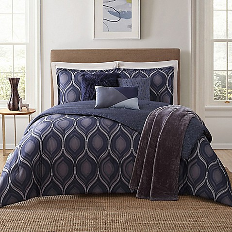Jennifer Adams Home Basti 7 Piece Comforter Set In Blue