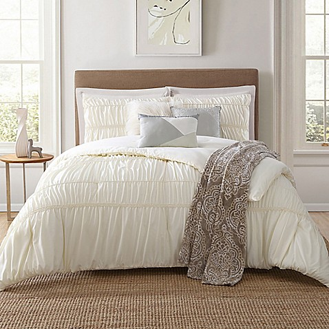 Jennifer Adams Home Belovo 7 Piece Comforter Set In Cream