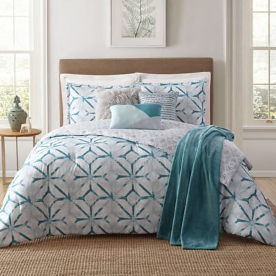 Buy Teal and White Bedding Set from Bed Bath & Beyond : teal quilt set - Adamdwight.com