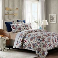By The Sea Shore South Seas Full/Queen Quilt Set in Blue