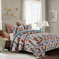By The Sea Shore Sea Life Full/Queen Quilt Set