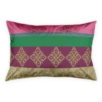 Designs Direct Boho Stripes Standard Pillow Sham in Pink/Gold