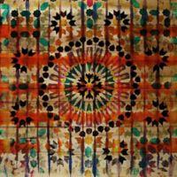 """Parvez Taj """"Amizmiz"""" 40-Inch x 40-Inch Wood Wall Art"""