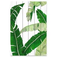 Marmont Hill Banana Leaves 30-Inch x 45-Inch Pinewood Wall Art