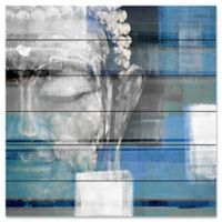 "Parvez Taj ""Blue Buddha"" 32-Inch x 32-Inch Wood Wall Art"