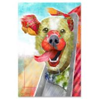 Marmont Hill Breezy Dog II 12-Inch x 18-Inch Canvas Wall Art