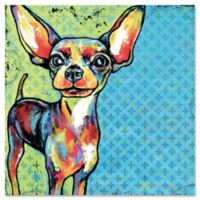 Marmont Hill Chihuahua Pop Art 32-Inch x 32-Inch Canvas Wall Art