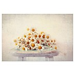 Marmont Hill Daisies On A Stool 18-Inch x 12-Inch Canvas Wall Art