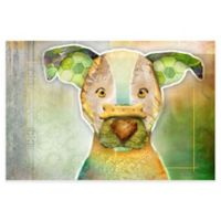 Marmont Hill Dog With Bone II 45-Inch x 30-Inch Canvas Wall Art