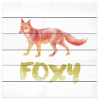 Marmont Hill 40-Inch x 40-Inch Foxy Pinewood Wall Art