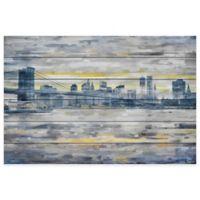 Parvez Taj From Across the Water 45-Inch x 30-Inch Pinewood Wall Art
