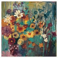 Marmont Hill Green Floral Frenzy II 18-Inch x 18-Inch Canvas Wall Art