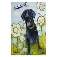 "Marmont Hill ""Happy Girl"" 20-Inch x 30-Inch Canvas Wall Art"