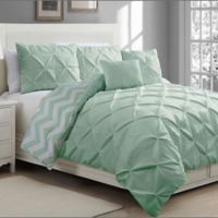 Avondale Manor Ella 5-Piece King Duvet Cover Set in Mint