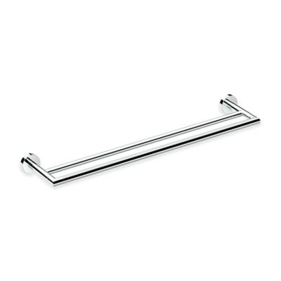 gatco glam 24inch double towel bar in chrome