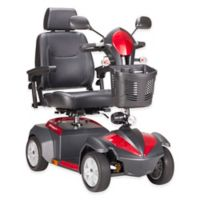 Drive Medical Ventura Front-Wheel Power Mobility Scooter with 18-Inch Captain's Seat in Red