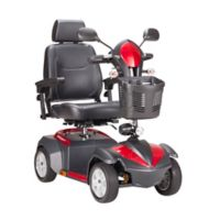 Drive Medical Ventura Front-Wheel Power Mobility Scooter with 20-Inch Captain's Seat in Red