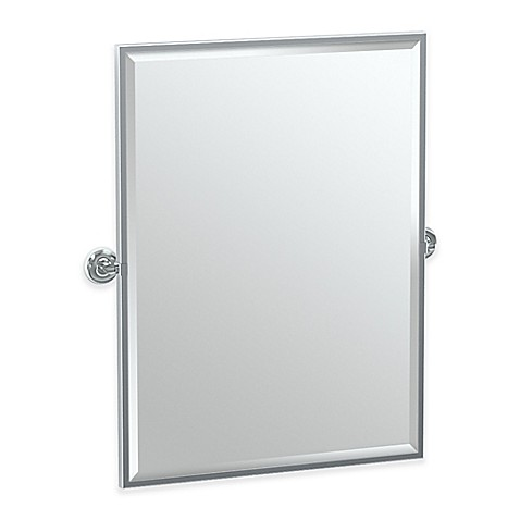 Gatco Designer Ii 25 Inch X 24 Inch Rectangular Framed Mirror In Chrome Bed Bath Beyond