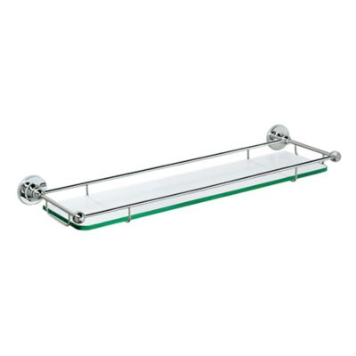 gatco premier 20 inch railing glass shelf in chrome - Bathroom Glass Shelves