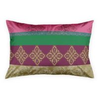 Designs Direct Boho Stripes King Pillow Sham in Pink/Gold
