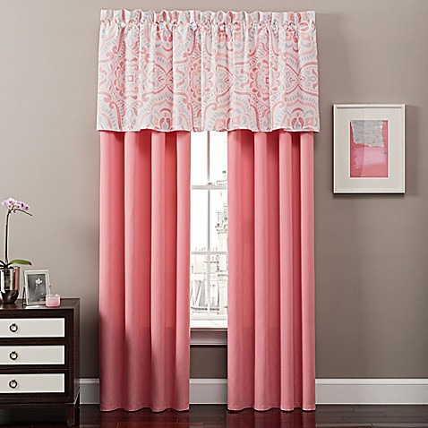Juniper Window Curtain Panel Pair and Valance - Bed Bath & Beyond