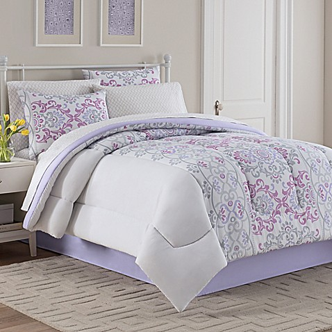 Katrina Comforter Set In Grey Lavender Bed Bath Amp Beyond