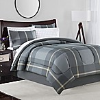 Jaden 8-Piece Queen Comforter Set in Grey/Tan