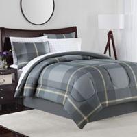 Jaden 8-Piece King Comforter Set in Grey/Tan