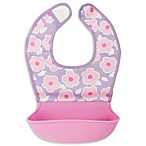 Kushies® Blossom Silicatch Bib in Red in Pink