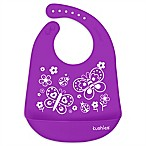 Kushies® Butterfly Kiss Silicatch Bib in Purple