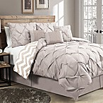 Avondale Manor Ella 7-Piece Reversible Queen Comforter Set in Taupe