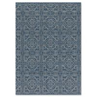 Magnolia Home by Joanna Gaines Emmie Kay 3-Foot 6-Inch x 5-Foot 6-Inch Area Rug in Navy/Cream