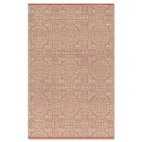 Magnolia Home by Joanna Gaines Emmie Kay 5-Foot x 7-Foot 6-Inch Area Rug in Dove/Persimmon