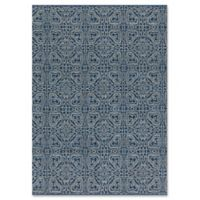 Magnolia Home by Joanna Gaines Emmie Kay 7-Foot 9-Inch x 9-Foot 9-Inch Area Rug in Navy/Cream
