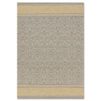 Magnolia Home by Joanna Gaines Emmie Kay 3-Foot 6-Inch x 5-Foot 6-Inch Area Rug in Grey/Maize